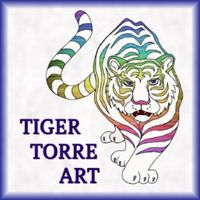 Rainbow Tiger Logo Icon for Tiger Torre Art